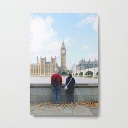 Couple Overlooking Big Ben  Metal Print