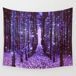 Magical Forest Purple Wall Tapestry