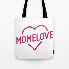 Pink Mome Love Tote Bag