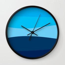 Blue view Wall Clock