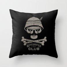 Explorer's Club Throw Pillow