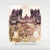 takmaj Shower Curtains featuring Reims by takmaj