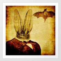 bat man Art Prints featuring Bat-Man by Ganech joe