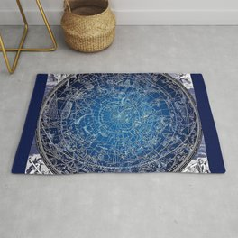 Vintage Celestial Constellations 17th Cenurty Star Map - Star Chart of the Constellations Rug