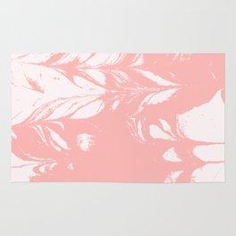 Tan - spilled ink rose pink marble marbling japanese watercolor water wave Rug