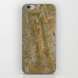 Forest Green Marble iPhone Skin