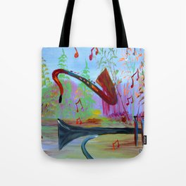 Singing Forest Tote Bag