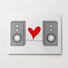 Music is all you need. Metal Print