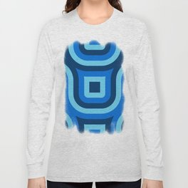 Blue Truchet Pattern Long Sleeve T-shirt