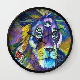 Fifth Eye Lion Wall Clock