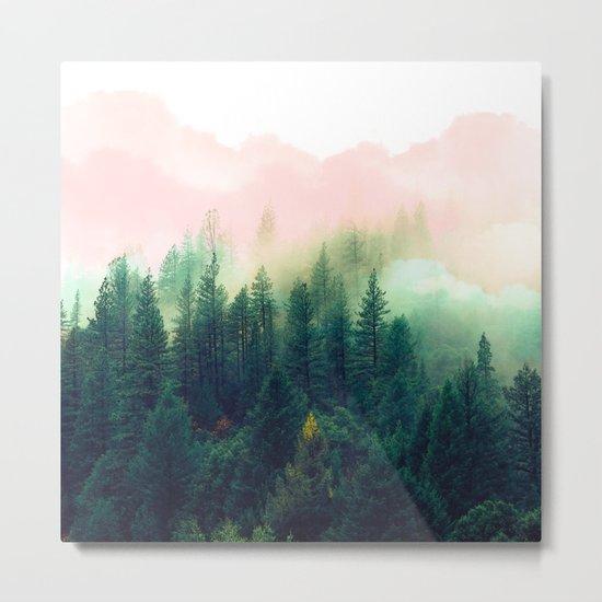 Watercolor mountain landscape Metal Print