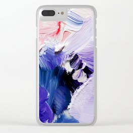 If You Please (Abstract Painting) Clear iPhone Case