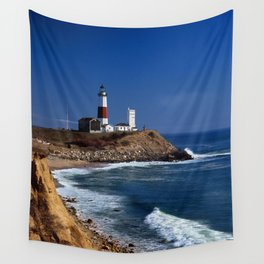 Crispy Morning at Montauk Point Lighthouse Long Island New York Wall Tapestry