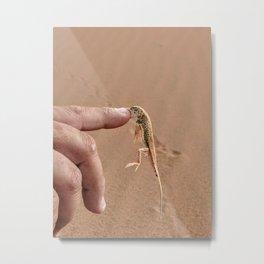 Fighting Back- Namib Desert Metal Print