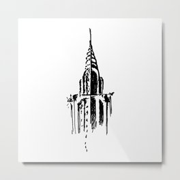 Chrysler Building Sketch Metal Print