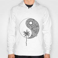 yin yang Hoodies featuring Yin Yang by KA Doodle