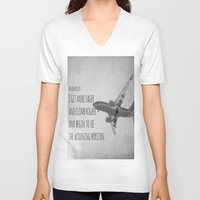 helen V-neck T-shirts featuring Helen Keller Horizon by KimberosePhotography