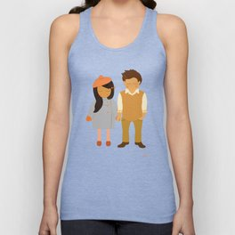 Valerie & Vernon - Couple Portrait Unisex Tank Top