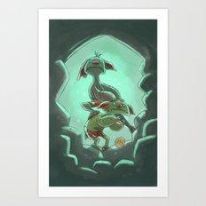 Goblins Drool, Fairies Rule! - Cringe and Cower Art Print