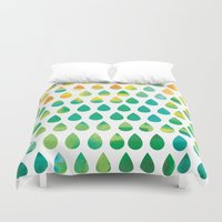 rain Duvet Covers featuring Monsoon Rain by Picomodi
