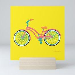Cruiser Bike: Banana Strawberry Mini Art Print