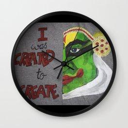 01PA10 | Kathakali | Abstract Painting | Artist Amiee Wall Clock