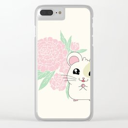 Hamster and Peony Clear iPhone Case