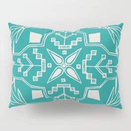 Turquoise Batik Pillow Sham