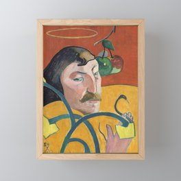 Self-Portrait with Halo and Snake by Paul Gauguin Framed Mini Art Print