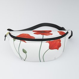 Poppy Stems Fanny Pack