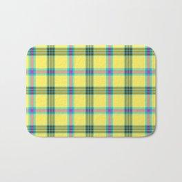 lemon love plaid with a dash of pink and blue Bath Mat