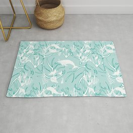 Nautical Toile de Jouy Rug