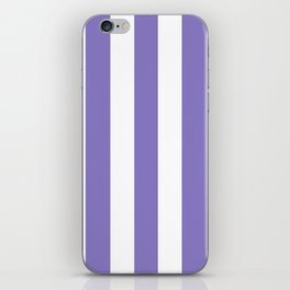 Ube violet - solid color - white vertical lines pattern iPhone Skin