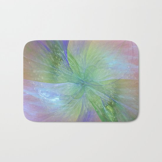 Mystic Warmth Abstract Fractal Bath Mat