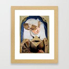 JUNGE FRAU Framed Art Print