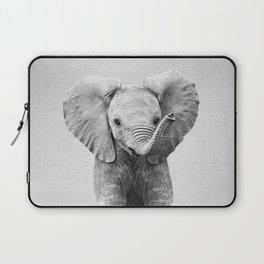 Baby Elephant - Black & White Laptop Sleeve