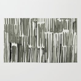 Simply Bamboo Brushstroke Green Tea on Lunar Gray Rug