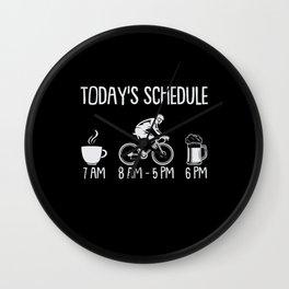 Today's Agenda Coffee Bike Riding Beer Wall Clock