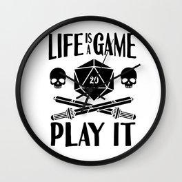 Gamer Cube RPG LARP Tabletop Motivation Gift Wall Clock