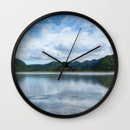 Cloud Reflections Photography Print Wall Clock