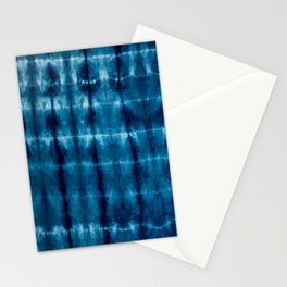 indigo shibori Stationery Cards