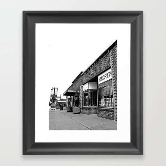 Liffick's repair shop Framed Art Print