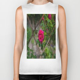Rose and wire Biker Tank