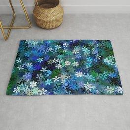 Bluebonnet Flower Garden Rug