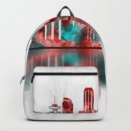 Vancouver Canada Skyline Backpack