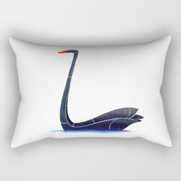 Black Swan Rectangular Pillow