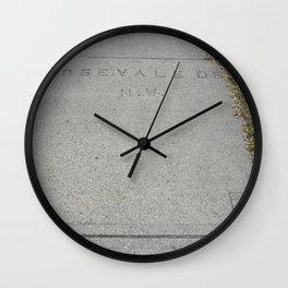 Rosevale Dr NW sidewalk stamp Wall Clock