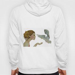 """Seagull (""""My love as the seagull is flying in the sky"""") Hoody"""