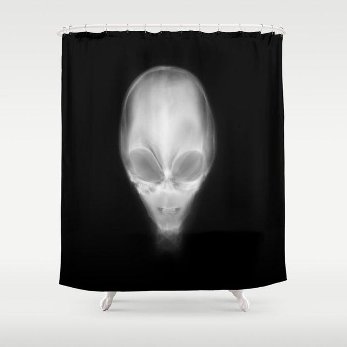 Alien X-Ray Shower Curtain