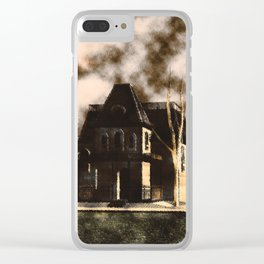 The House From Psycho Clear iPhone Case